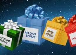 Presenter med welcome bonus, reload bonus och free spins