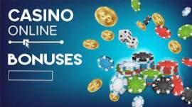 Casino online bonuses med guldmynt, spelmarker och tärningar