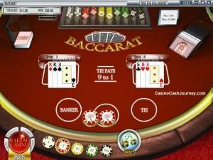 Baccarat  bord online casino